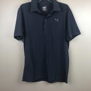 PUMA men's golf polo t-shirt navy blue medium